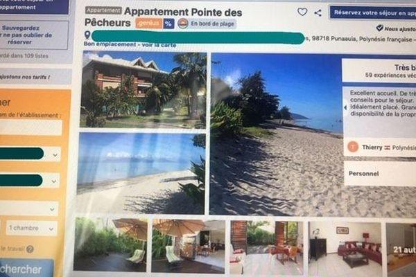 Appartement sous-loué sur Booking