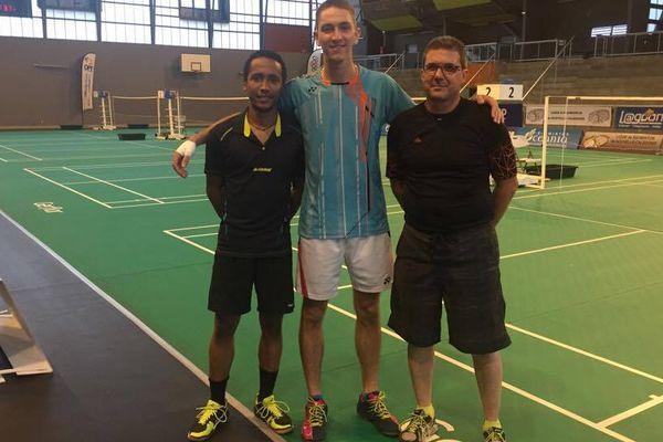 Les Cagous sont prêts à relever le défi, mais lucides sur le niveau du tournoi. (De gauche à droite, Carl Nguela, Jérémy Lemaitre, Laurent De Geoffroy).