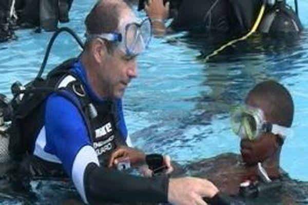 baptême de plongée pour des jeunes de Papaïchton