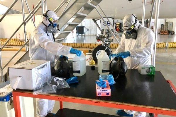 Coronavirus, décontamination des avions, mars 2020