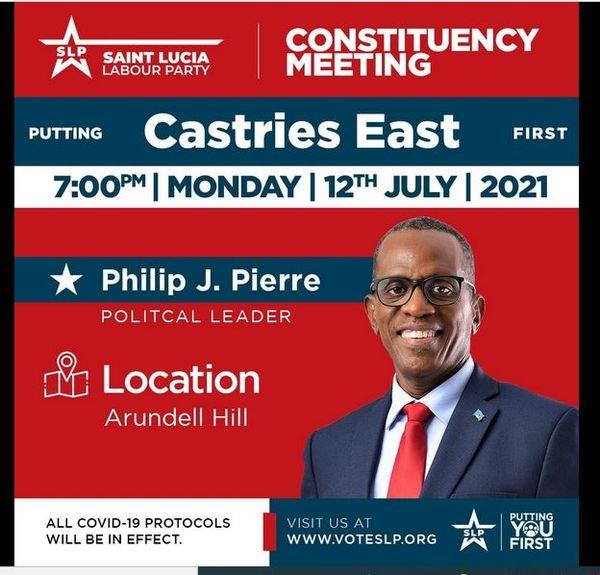 Sainte Lucie Philip J. Pierre élections 2021