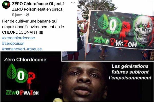 "Images Facebook collectif ""ZERO chlordécone objectif ZERO poison"""