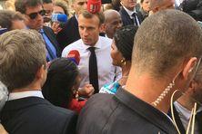 Le président Macron lors de sa visite en Martinique (Saint-Pierre) le 27 septembre 2018.