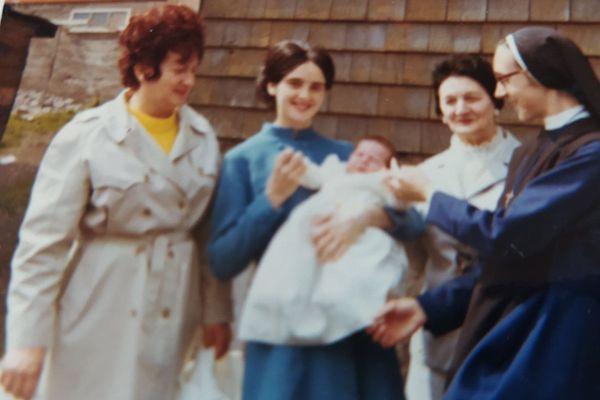 Marie-France bébé famille
