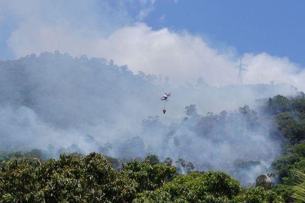 Intervention des moyens aériens au Pic Malaoui