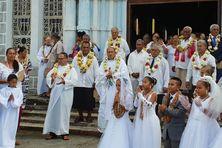 Jour de communions à Futuna