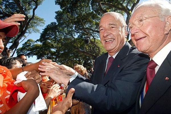 Jacques Chirac à Papeete en 2003