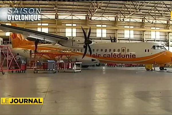Dépression tropicale Ola : Les avions Air Calédonie à l'abri.