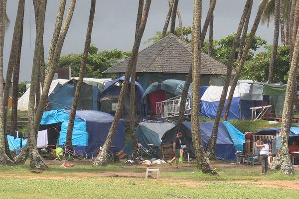 Camp des réfugiés cubains à Buzaré