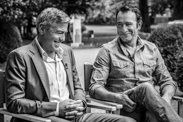 George Clooney et Jean Dujardin - Les coulisses du tournage