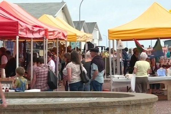 Le marché d'été à Miquelon