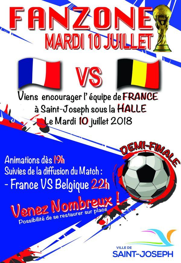 Fan Zone France-Belgique à Saint-Joseph