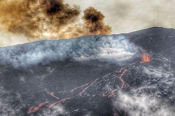 Eruption de la Fournaise 12 février 2020 en fin de journée