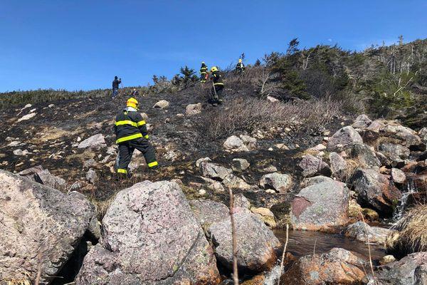 Un incendie difficile d'accès