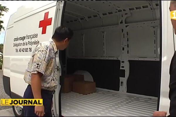 Un camion solidaire pour la Croix Rouge