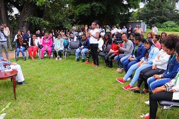 Les jeunes femmes malgaches rapatriées du Koweit, reçues par le président
