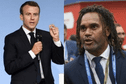 Pour un match caritatif, le Calédonien Christian Karembeu rechausse les crampons aux côtés d'Emmanuel Macron