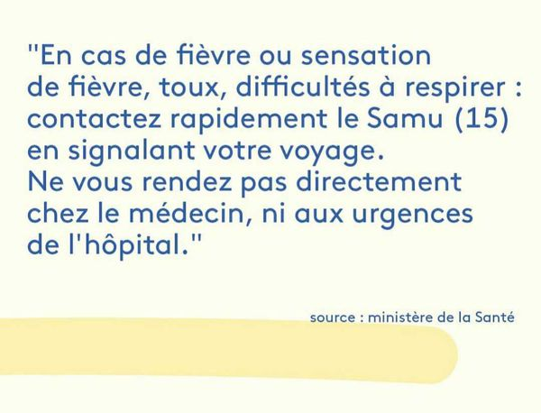 Coronavirus : Réflexes en cas de symptômes