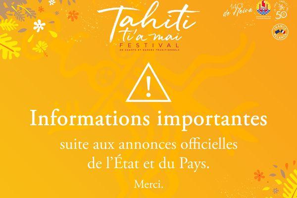 Plus de 1000 nouvelles places disponibles pour toutes les soirées du Festival Tahiti Ti'a Mai !