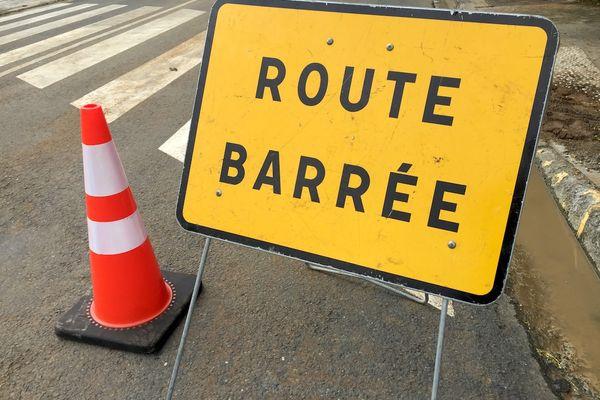 Route barrée, image d'illustration