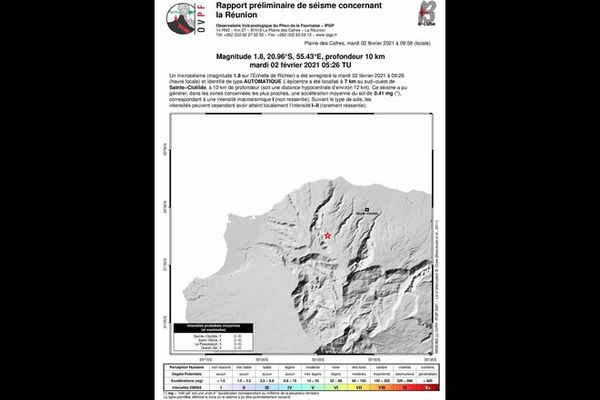 seisme saint-denis observatoire volcanologique du piton de la fournaise 020221