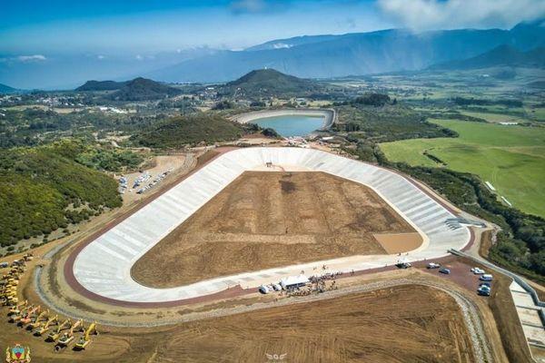 Irrigation eau agriculture retenue collinaire du Piton Marcelin au Tampon
