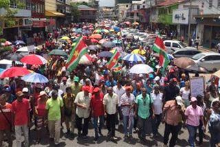 Suriname manfestations