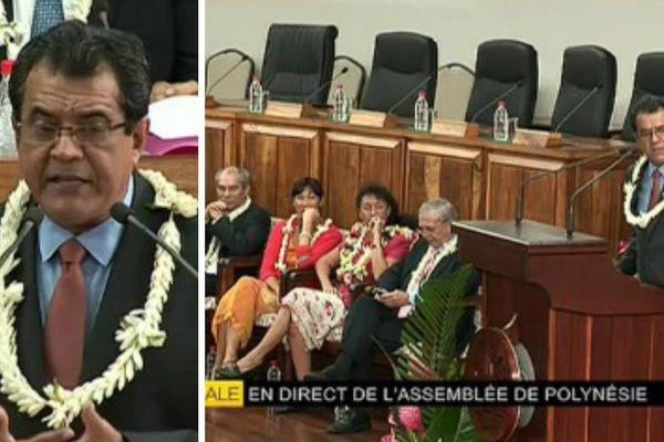 Election d'Edouard Fritch, Président de la Polynésie française. En direct de l'Assemblée sur Polynésie 1ère TV radio internet
