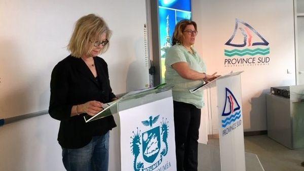Plan requins: Sonia Lagarde et Sonia Backès, Nouméa, 12 juin 2019
