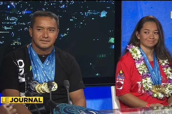 Championnats du monde de pirogue : Tahiti couvert d'or
