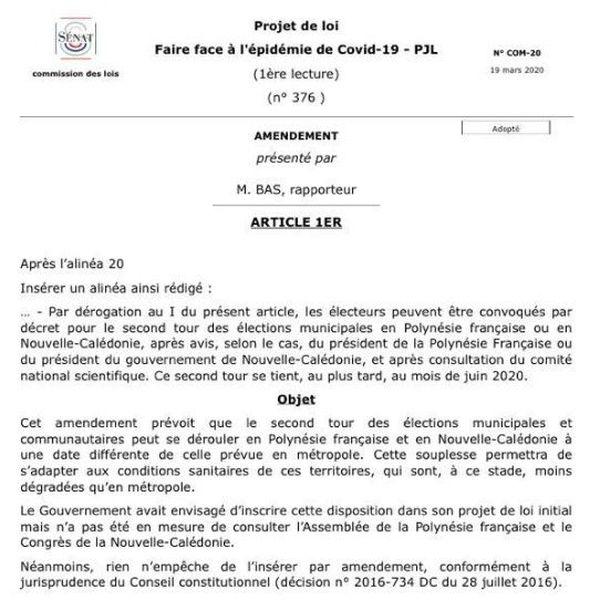 amendement 2nd tour municipales