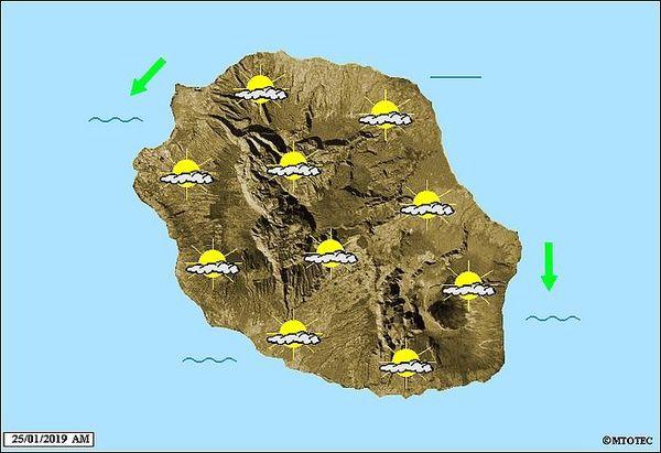 Carte météo du 25 janvier 2019