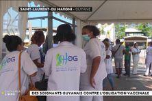 Mobilisation des soignants à Saint-Laurent du Maroni contre l'obligation vaccinale