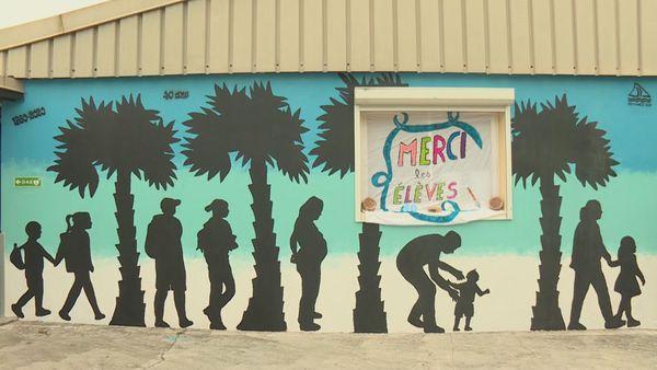 40 ans internat de La Foa  fresque