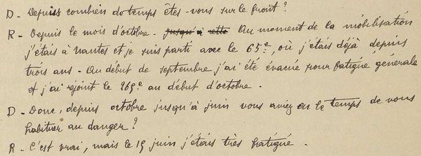 Juin 1915 : extrait du jugement de Marcel Pierret, natif de Saint-Pierre et Miquelon