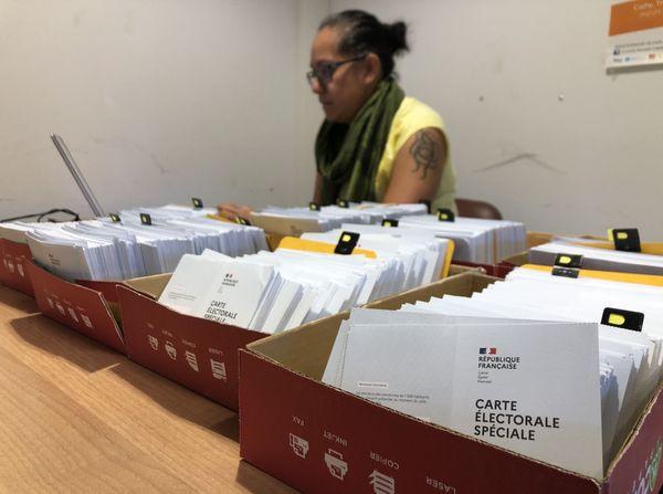 Référendum 2020, mise à disposition des cartes électorales spéciales à Païta.