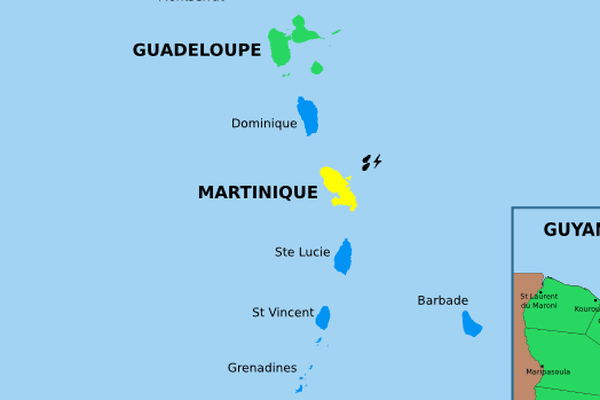 Martinique en vigilance jaune