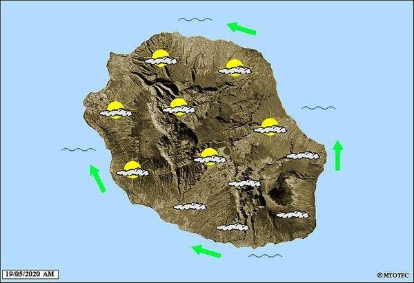 Carte météo 19 mai 2020