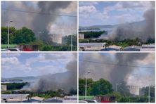 le feu s'est déclaré en fin de matinée (20 octobre 2021)