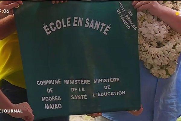 Le label éco santé de l'OMS récompense l'école élémentaire de Teavaro