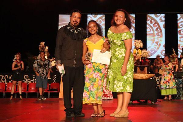 Meilleur danseuse «Ori Vahine»:Hereiti Tixier, du collège de Tipaerui