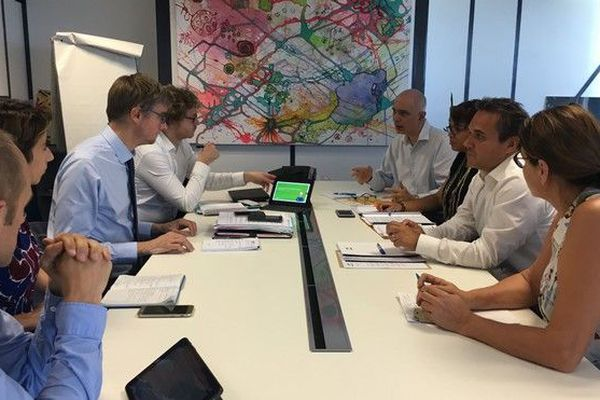 Visite délégué interministériel lutte contre la pauvreté Olivier Noblecourt à la Région 141218