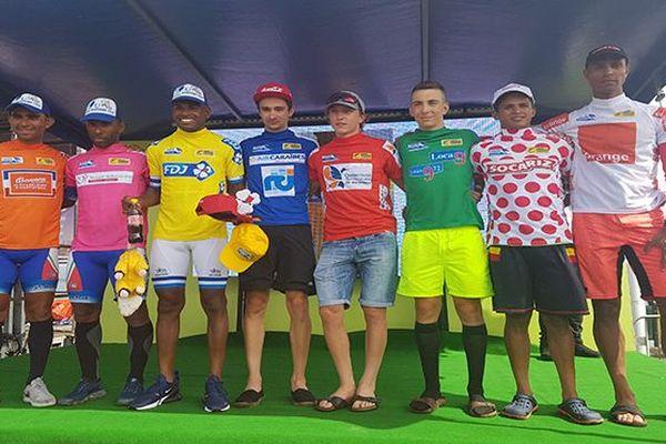 Les maillots au départ de la 3e étape