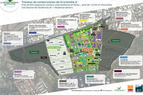La Possession aménagement coeur de ville ecoquartier plan 040820
