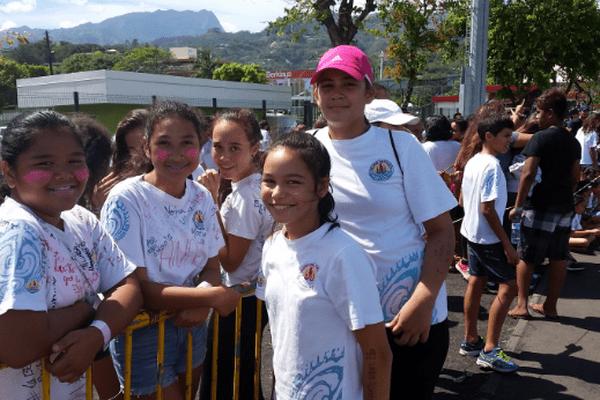 Les collégiens de Tipaerui au cross de leur école