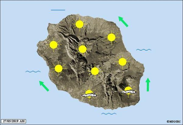 Carte météo 27 mai 2019