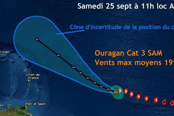 Sam ouragan majeur 3