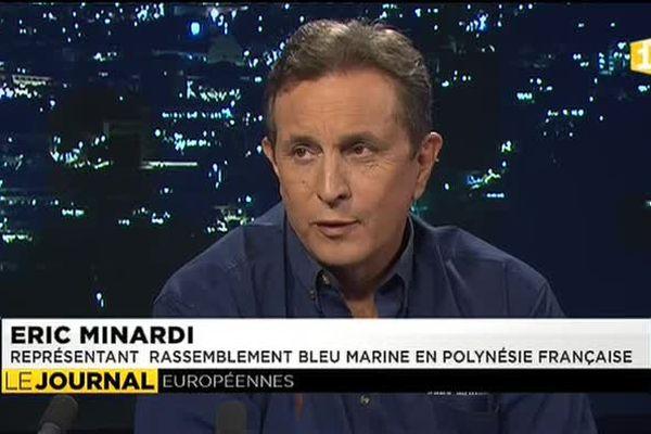 Eric Minardi, président du FN en Polynésie, invité du JT