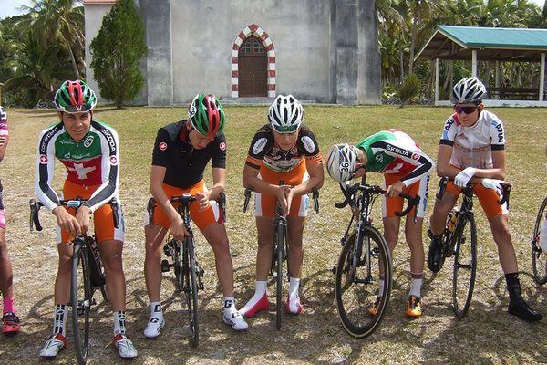 L'équipe Axial-Pierre, vainqueur de la 1ère étape.