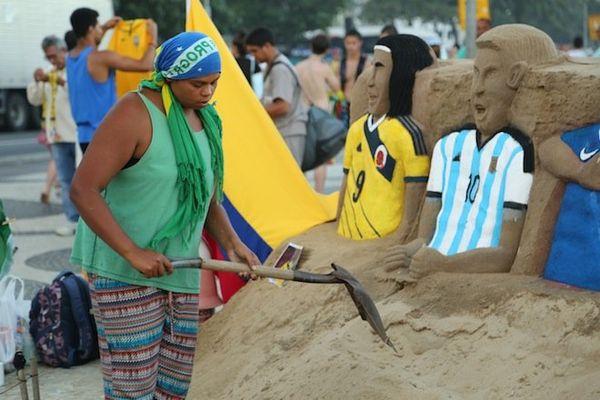 sculpture sable rio copacabana